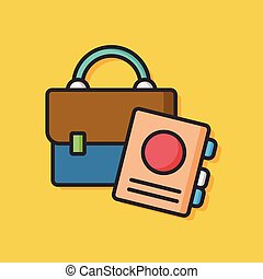 office suitcase vector icon