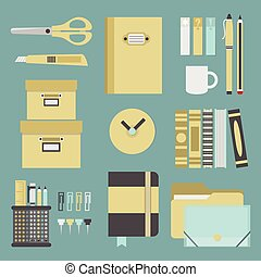 Office supplies and stationery icon