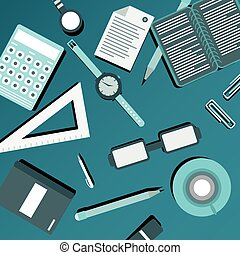 office supplies business with shadow for your design