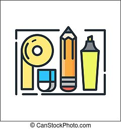 office supplies icon color