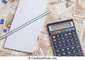 Office supplies over euro notes