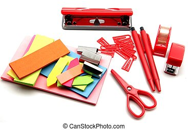 Office supplies, paper for notes of colors
