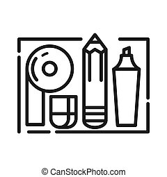 office supplies vector illustration