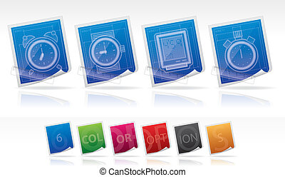 Office Supply Icons Set. vector artwork with additional...