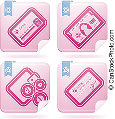 Office Supply Icons Set ( (part of the Flamingo Squared 2D...
