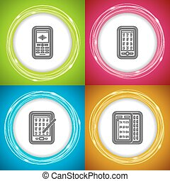 Office Supply Objects - Mobile phone, Smartphone, Smartphone...