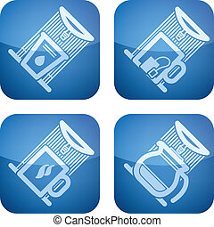 Office Supply Icons Set (part of the Cobalt Squared 2D Icons...