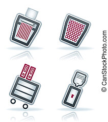 Office Supply Icons Set (part of the 22 Degrees Blue Icons...