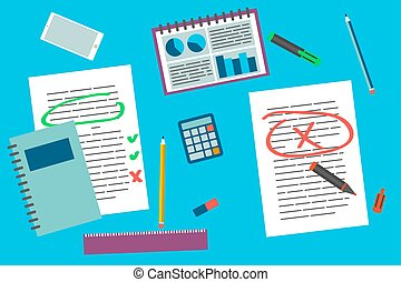 Office supply vector elements