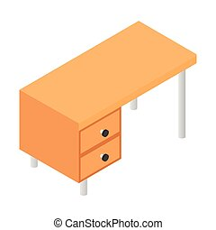 Office table isometric 3d icon. Workplace and job, office,...