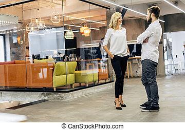 Office talk between coworkers