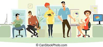 Office team working