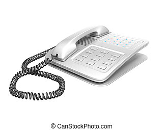 office telephone - cg office telephone isolated on white