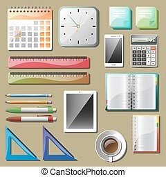 Office tools and devices set