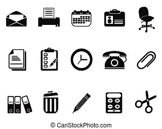 office tools icons set