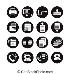 Office tools vector, icon set