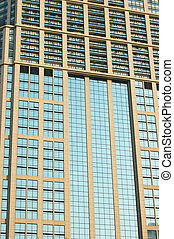 Office tower windows