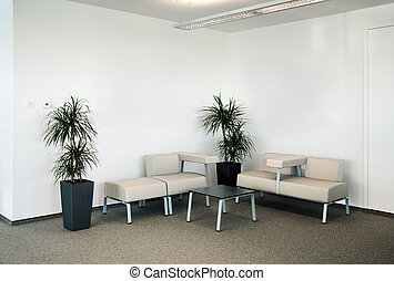 Office waiting room - Corporate office waiting room.