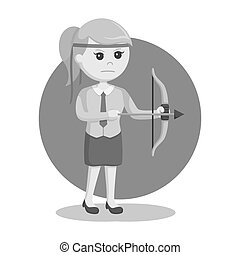 Office warrior with bow