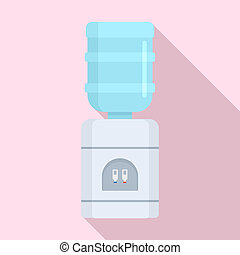 Office water cooler icon, flat style