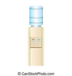 Office water cooler with hot and cold potable water - Office...