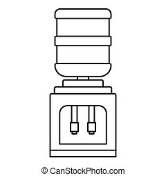 Office water filter bottle icon, outline style