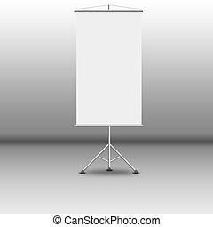Office white floor billboard on gray background