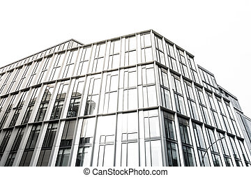 Office windows on a building