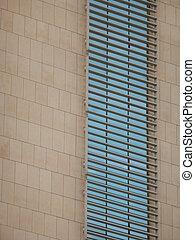 Office Windows Reflecting Blue Sky