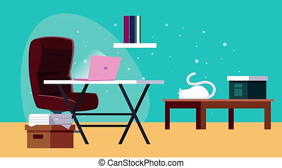 office work at home campaign animation ,4k video animated