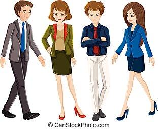 Office worker cartoon character