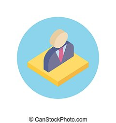 Office Worker Design Flat Icon