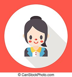 office worker flat icon