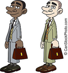 Office worker double multiethnic representation