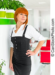 office worker in strict clothes posing
