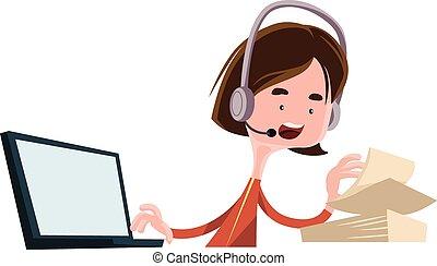Office worker job employee talking