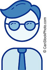 Office worker line icon.