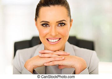 office worker sitting in office