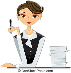 Office Worker with Clipping Path