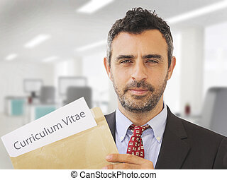 Office worker with CV