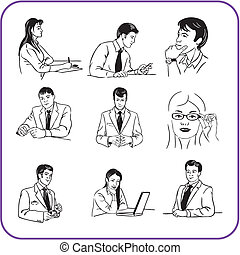 Office workers - business set.