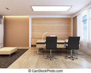 Office Working Area - Office working area with modern...