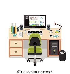 Office workspace. Workplace. Business workspace in the office