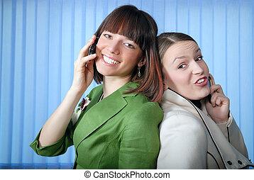 .office, zabawa, z, telefony