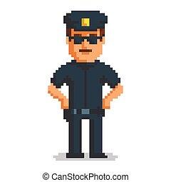 Officer pixel art