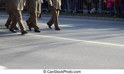 Officers March - Low ranks terestrial army officers,...