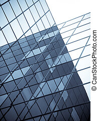 Offices building - Office building with distorted...