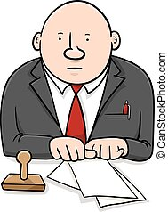 official cartoon character - Cartoon Illustration of...