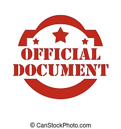Official Document-stamp - Red stamp with text Official...