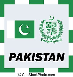 Official ensigns, flag and coat of arm of Pakistan